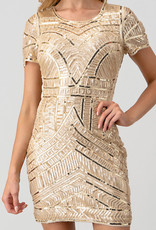Gold Sequins Beads Bodycon