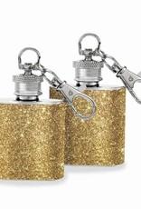 Wild Eye Mini Keychain Flask Set - Gold Glitter