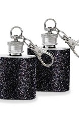 Wild Eye Mini Keychain Flask Set - Black Glitter