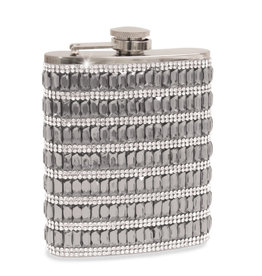 Wild Eye Jewel Bling Flask - Silver