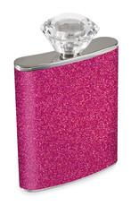 Wild Eye Magenta Glitter Flask