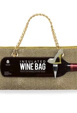 Wild Eye Insulated Wine Bag/Stopper Set - Gold Glitter