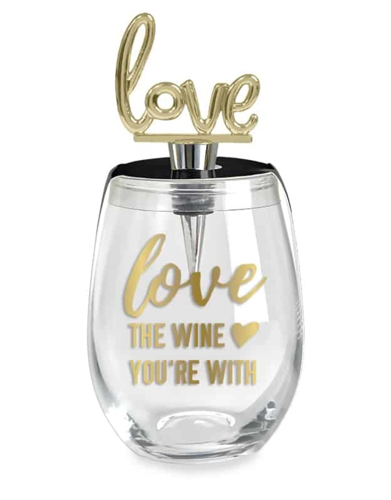 Wild Eye Wine Glass Stopper Set Love the Wine You're With