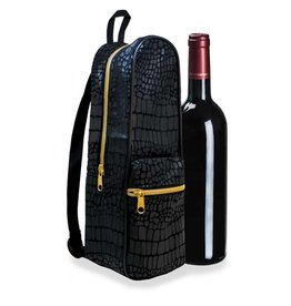 Wild Eye Mini Wine Backpack - Black Croc