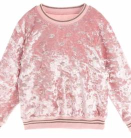 Doe a Dear LS Crushed Velvet Crown Sweater