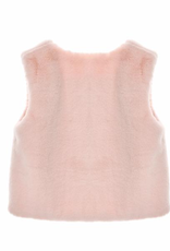 Doe a Dear Star Patch Pink Fur Vest