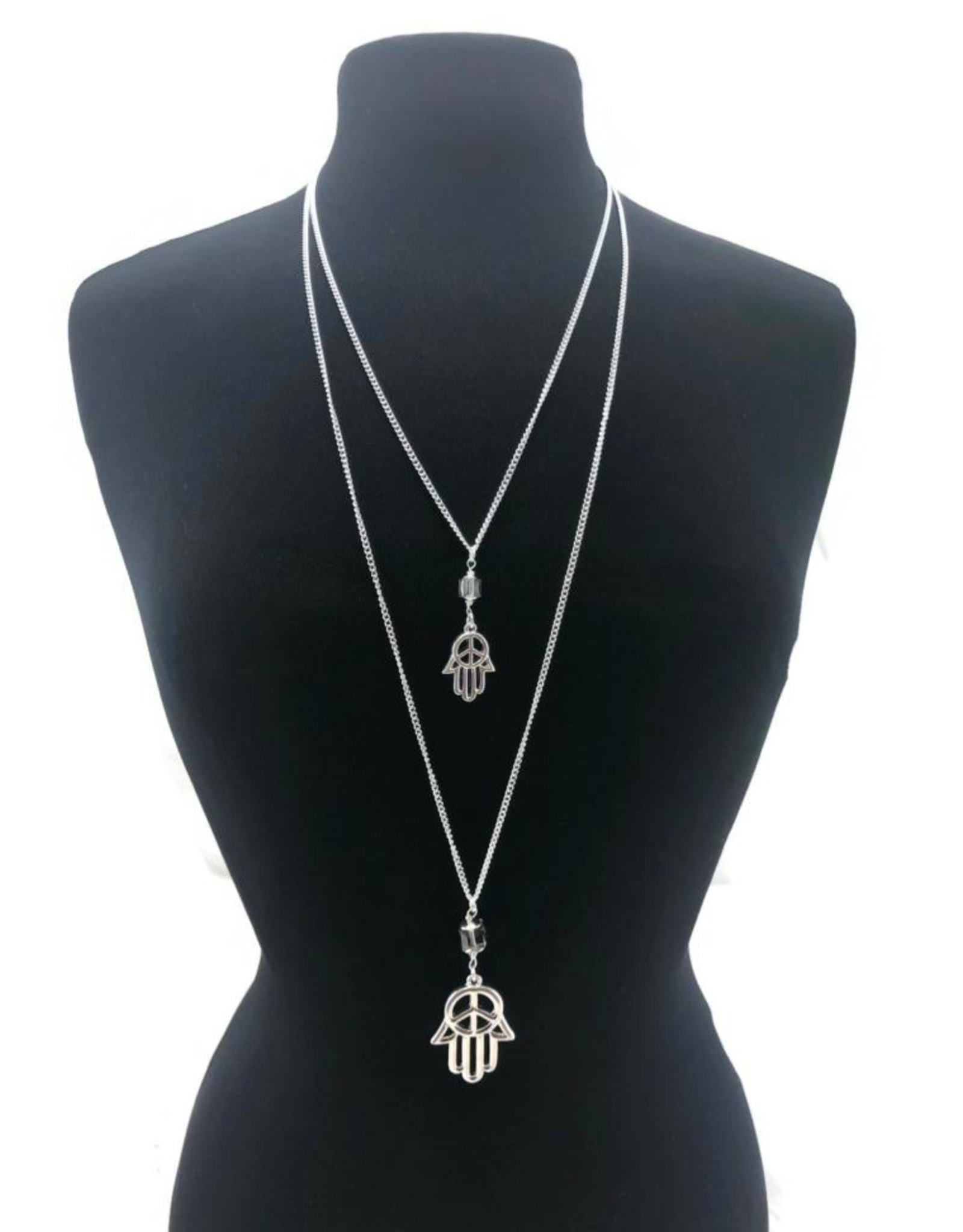 A Touch of Style Hamsa Layered Necklace