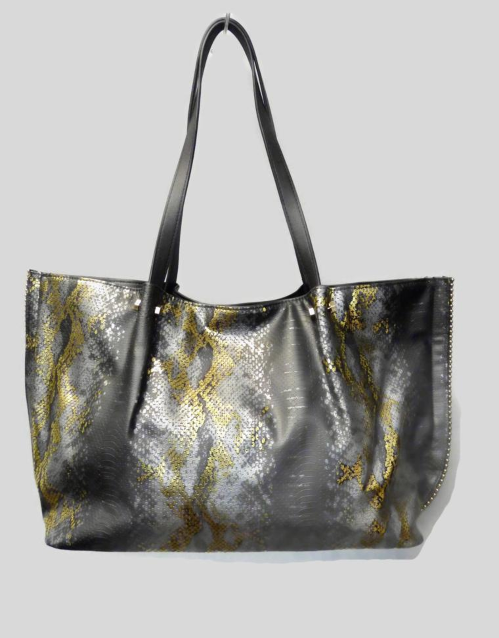 A Touch of Style Faux Brushed-Leather Chain Tote
