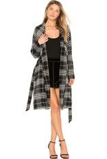 BB Dakota Plaid Wrap Coat