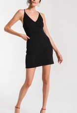 Black Swan Deep V Racerback Dress Black
