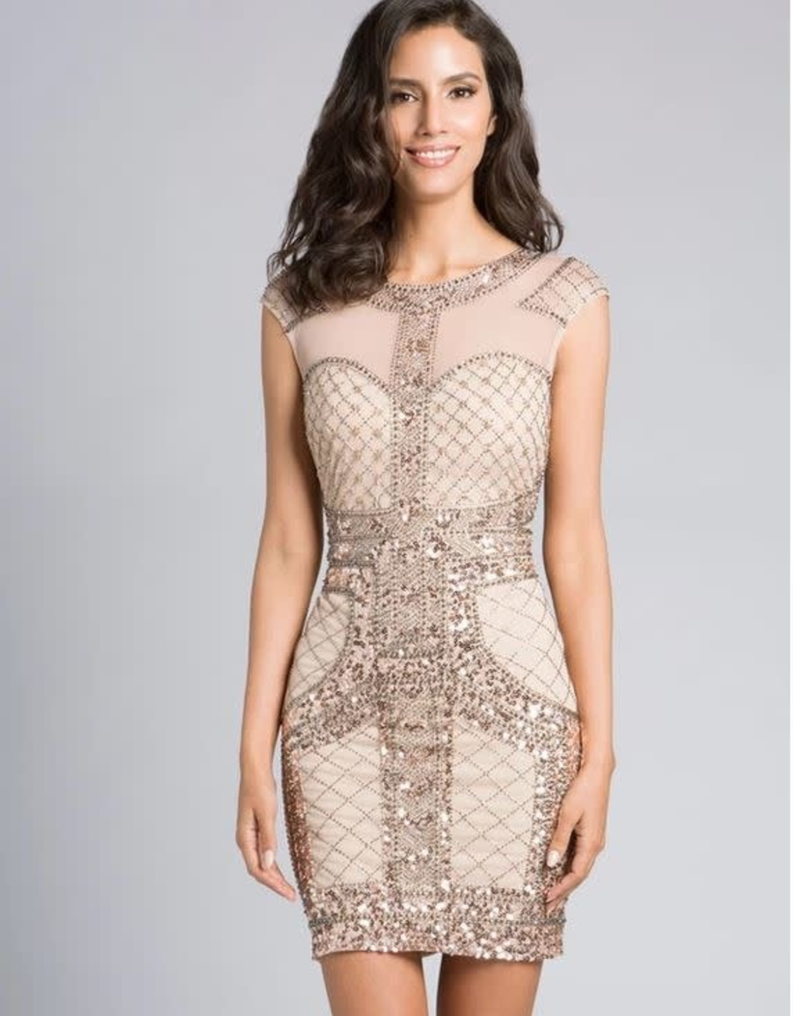 Lara Design Champagne Glam Cocktail Dress