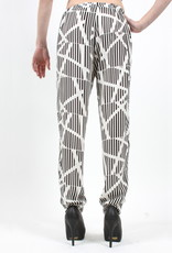 Blk/Ivory Print Jogger