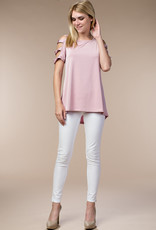 Blush Cut-Out Cold Shoulder Blouse