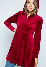 Vocal Red Velvet Hoodie Jkt Dress