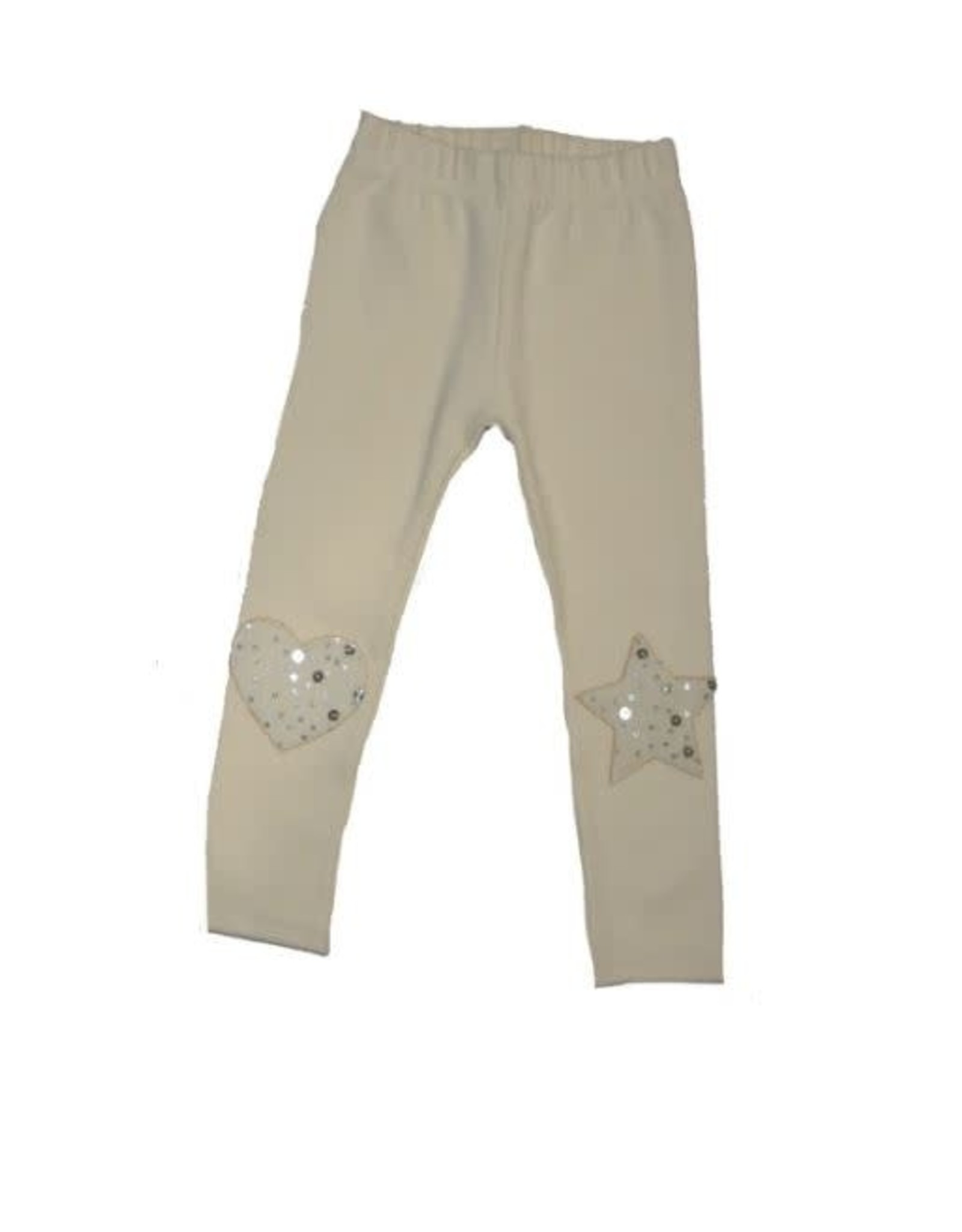 Ciao Milano Embellished Heart Star Pant - Antique White