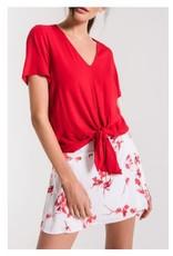 Black Swan Red Tie Top