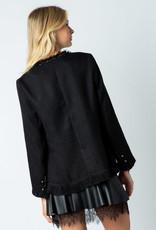 Military Tweed Jacket Black