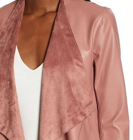 BB Dakota Reversible Vegan Leather/Suede Jacket - Mauve