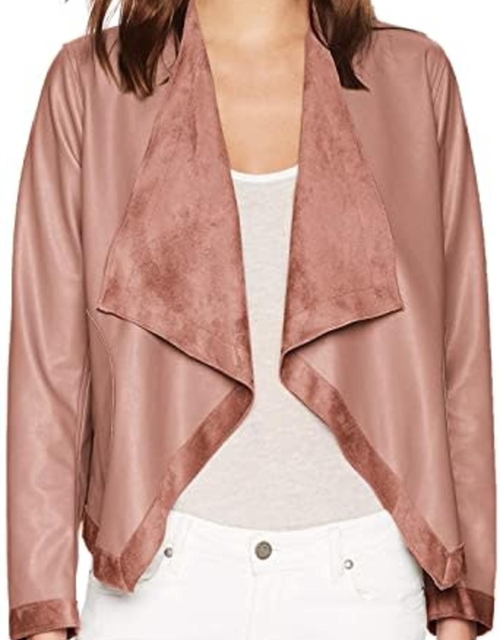BB Dakota Reversible Vegan Leather/Suede Jacket - Mauve