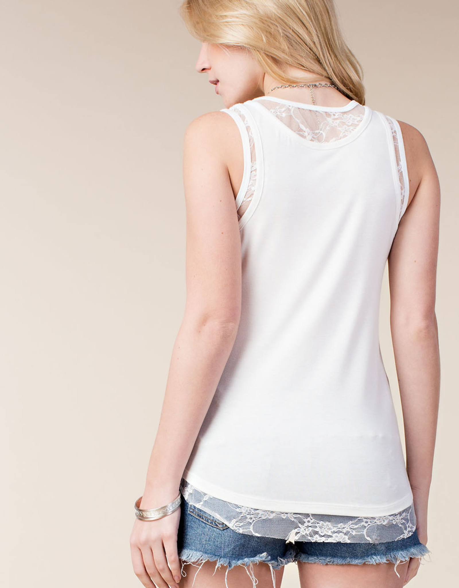Lace Tank Top Ivory