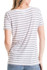 Z Supply Twist Front Tee Blk/Wht
