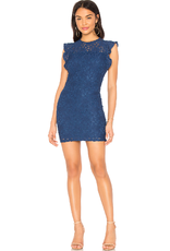 Jack Blue Lace Cut-Out Back Dress