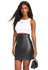 BB Dakota High-Waisted Vegan Leather Skirt