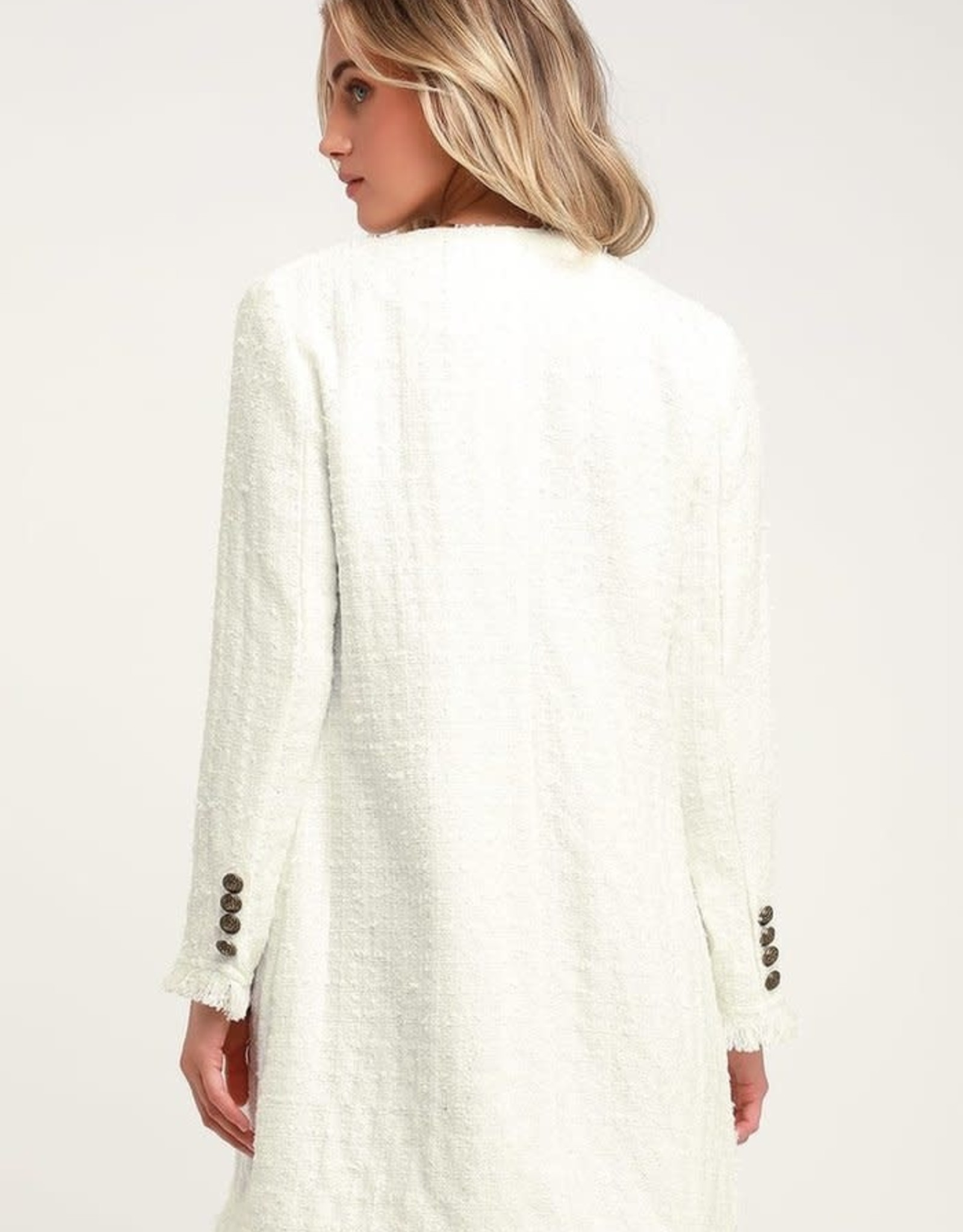 BB Dakota Double Breasted Tweed Coat/Dress