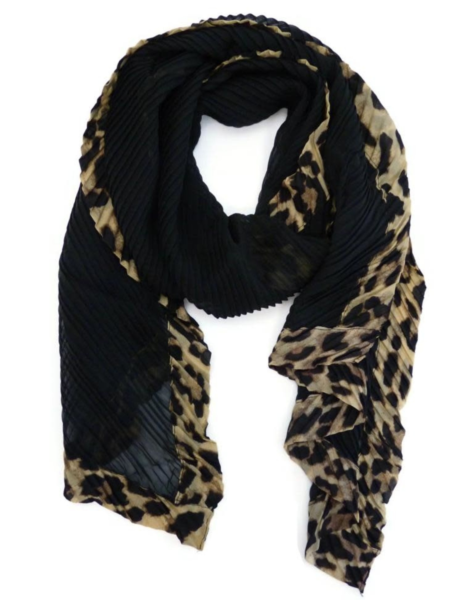 A Touch of Style Animal Print/Black Scarf