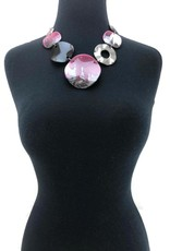 Pink Silver Multi Necklace