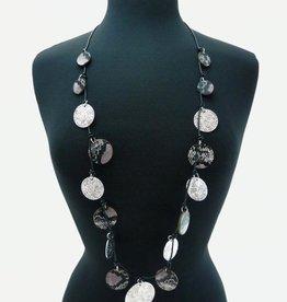 Snakeskin Acrylic Long Necklace