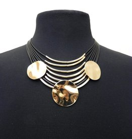 Gold/Black Statement Necklace