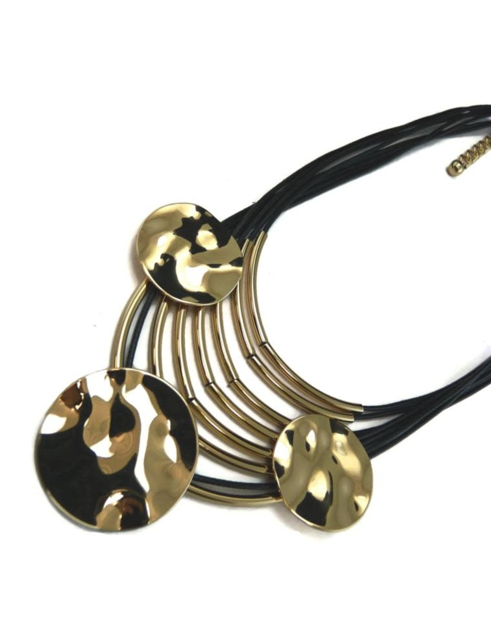 Gold/Black Statement Necklace
