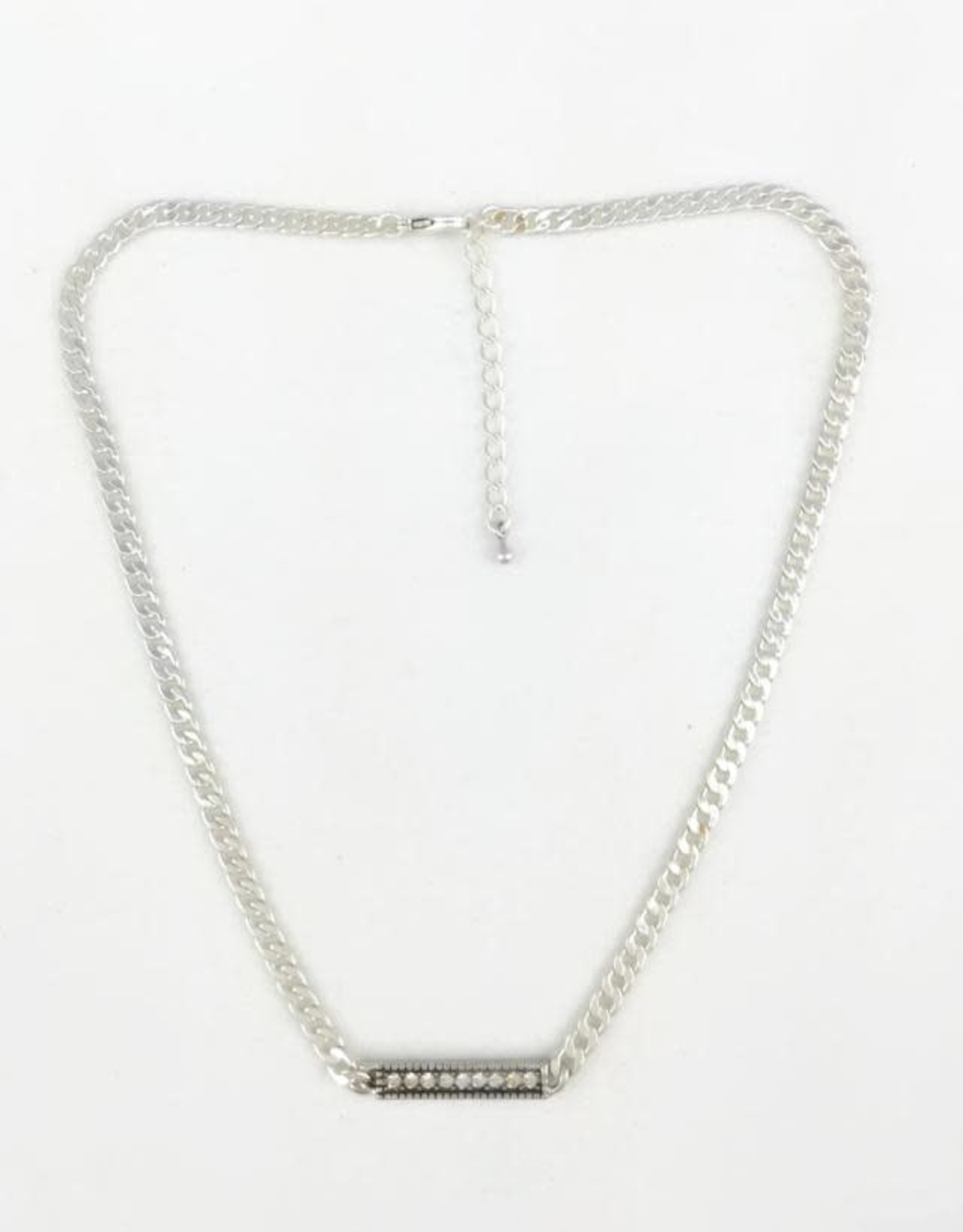 Crystal Bar Short Necklace