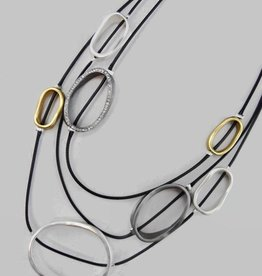 Triple Layer Multi Short Necklace