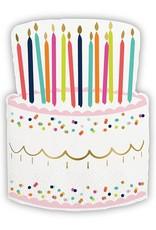 Slant Napkin Birthday Cake 20ct