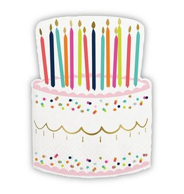 Slant Napkin Birthday Cake 20ct