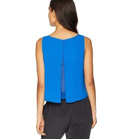 Jack Cropped Chiffon Back Blue