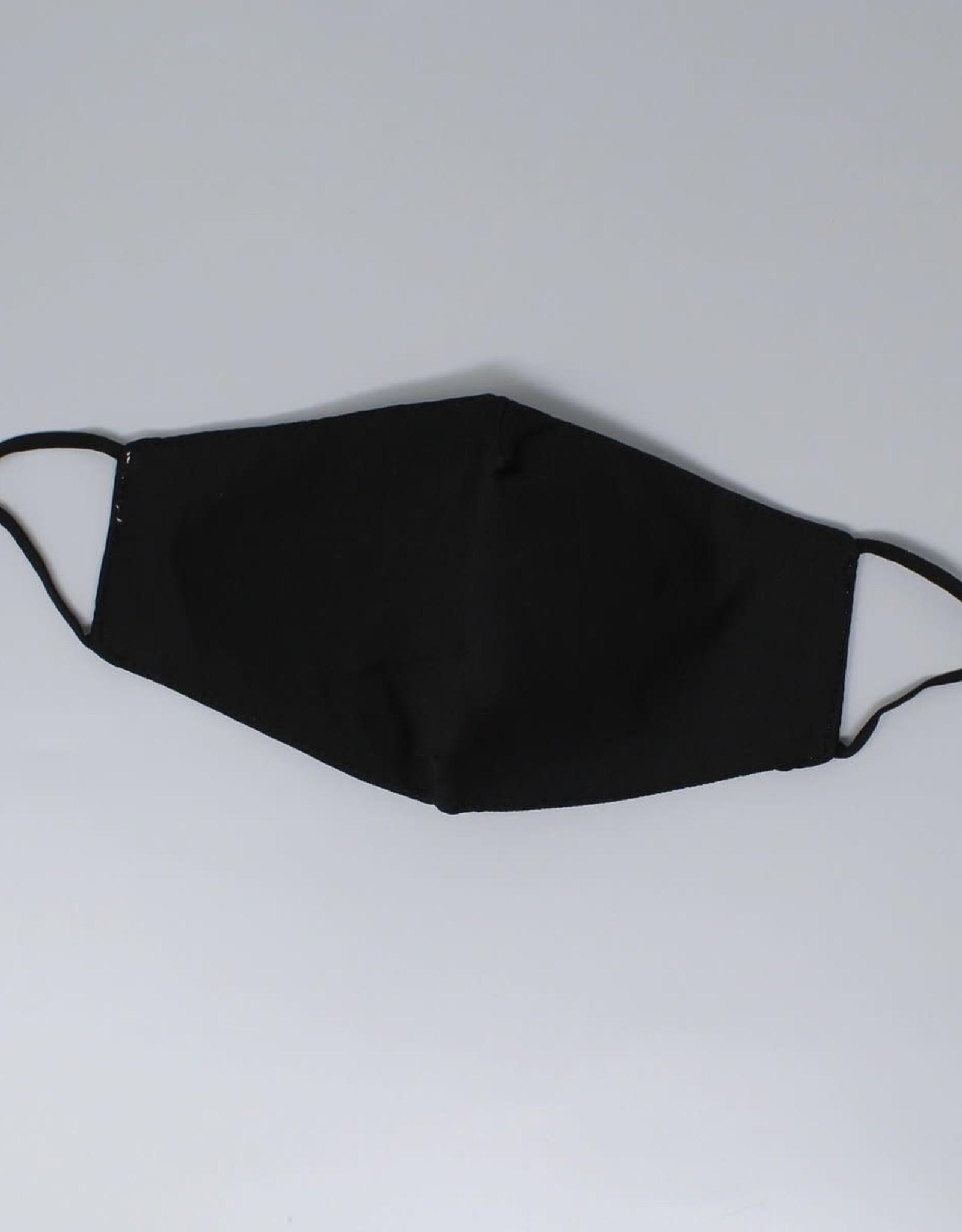 Face Mask Cotton Padded Black