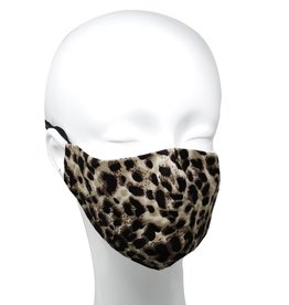 Face Mask Leopard Print w/Replaceable Filter Pocket