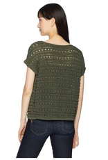 BB Dakota Olive Crop Short Sleeve Sweater