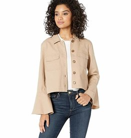 Jack Cotton Canvas Bell Sleeve Jacket - Tan