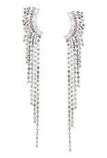 Cubic Zirconia Pave Waterfall Drop Earrings