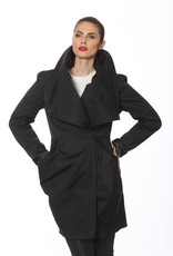Ciao Milano Statement Collar Water Resistant Coat