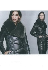 Ciao Milano Faux Fur Collar Down Coat - Black
