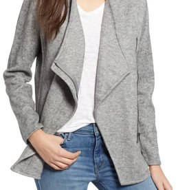 BB Dakota Knit Asymmetric Zip Jacket Heather Grey