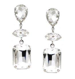 Glass Stone Drop Earrings