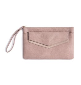 Shiraleah Blush Vegan Leather Wristlet