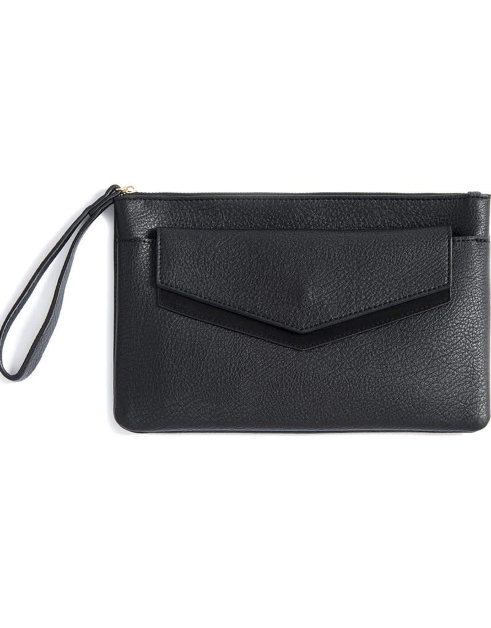 Shiraleah Black Vegan Leather Wristlet