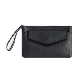 Shiraleah Black Vegan Leather Wristlet